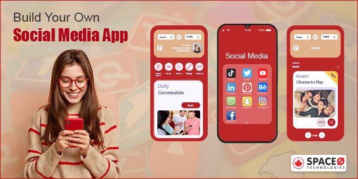 develop social media app